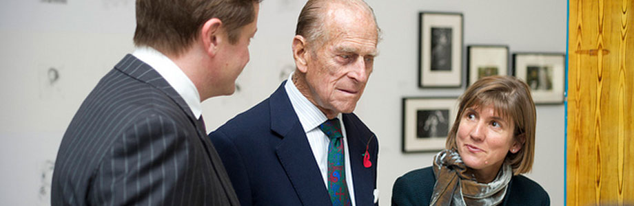 Victoria Pomery with The Duke of Edinburgh